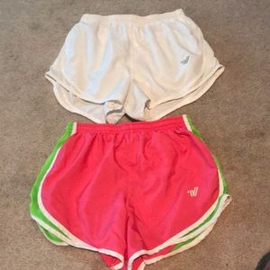 Lot of 2 varsity running shorts
